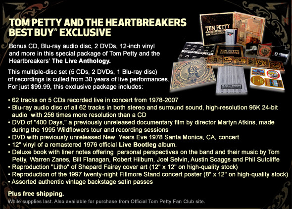 Tom petty the heartbreakers live anthology