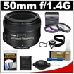 Nikon - 50mm f/1.4G AF-S Nikkor Lens w/3 UV/FLD/CPL Filters+Cleaning Kit - Multi
