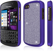 Empire - GLITZ SlimFit Case for BlackBerry Q10 - Purple Glitter Glam - Purple Glitter Glam