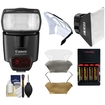 Canon - Speedlite 430EX II Flash with Softbox + Diffuser + (4) Batteries + Charger + Accessory Kit
