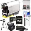 Sony - Action Cam Wifi GPS HD Video Camcorder+Live View Remote w/ 32GB Card+Batt.+Case+Tripod+Kit - Black