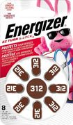 Energizer - 312 Alkaline Zinc-Air Batteries for Most Hearing Aids (8-Pack)