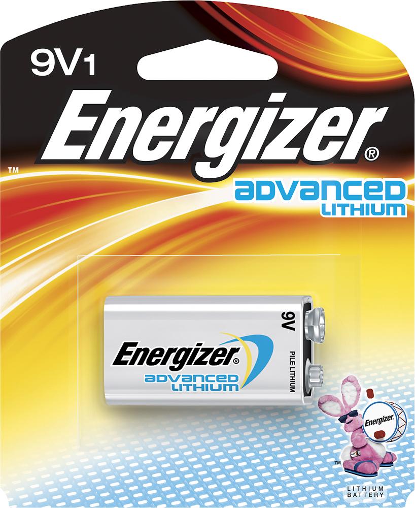 Energizer - Advanced Lithium 9V Battery - Silver