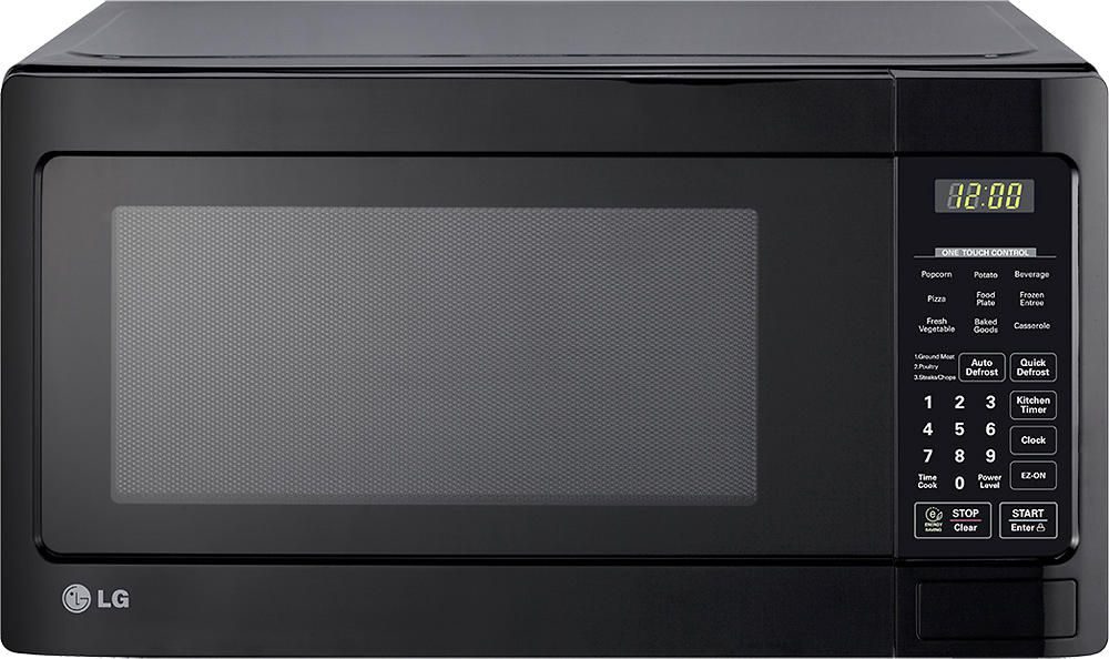 LG - 1.1 Cu. Ft. Mid-Size Microwave - Smooth Black - LCS1112SB ...
