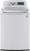 LG - 5.0 Cu. Ft. 14-Cycle Mega-Capacity High-Efficiency Steam Top-Loading Washer - White
