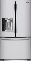 LG - 24.7 Cu. Ft. French Door Refrigerator with Thru-the-Door Ice and Water - Stainless/Stainless look