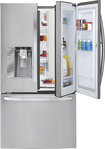 LG - 32.0 Cu. Ft. French Door Refrigerator with Thru-the-Door Ice and Water - Stainless-Steel