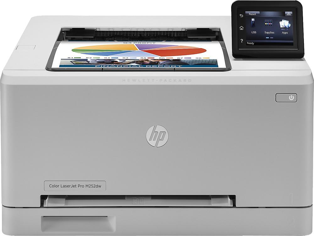 HP - LaserJet Pro Wireless Color Printer - Gray