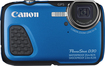 Canon - PowerShot D-30 12.1-Megapixel Waterproof Digital Camera - Blue