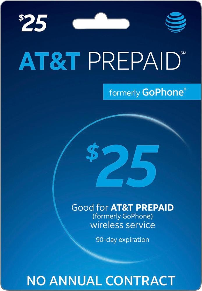 AT&T - AT&T Prepaid $25 Top-Up Prepaid Card - 5410303 - Best Buy For ...