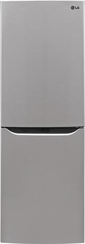 LG - 10.1 Cu. Ft. Counter Depth Bottom-Freezer Refrigerator - Stainless-Steel