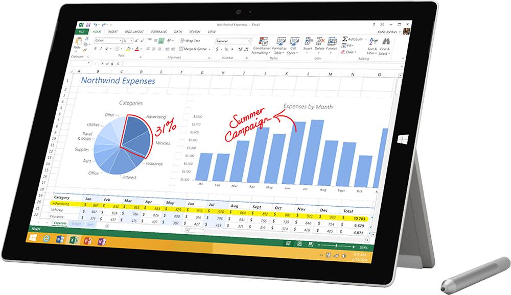 Microsoft - Surface Pro 3 - 12
