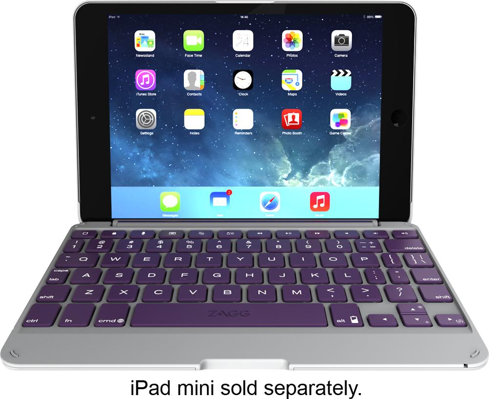 ZAGG - ZAGGfolio Keyboard Case for Apple® iPad® mini - Orchid