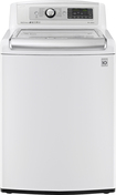 LG - TurboWash 5.0 Cu. Ft. 12-Cycle Mega-Capacity High-Efficiency Top-Loading Washer - White