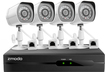 Zmodo - 4-Channel, 4-Camera Indoor/Outdoor High Definition Security System - Black/White